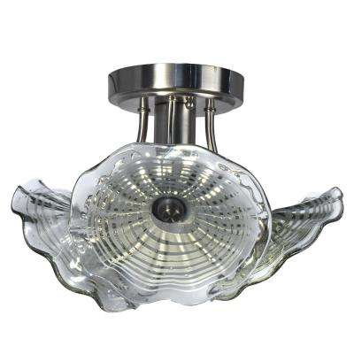 Indonesia Collection 7.5-Watt Integrated LED Ceiling Semi-Flushmount