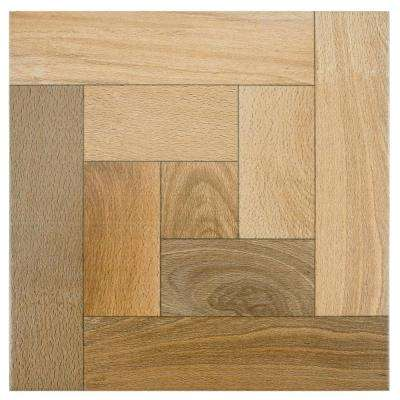 Cancun Nogal 12-1/2 in. x 12-1/2 in. Ceramic Floor and Wall Tile (11 sq. ft. / case)