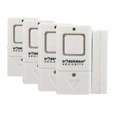 Mini Door and Window Alarm/Chime (4-Pack)