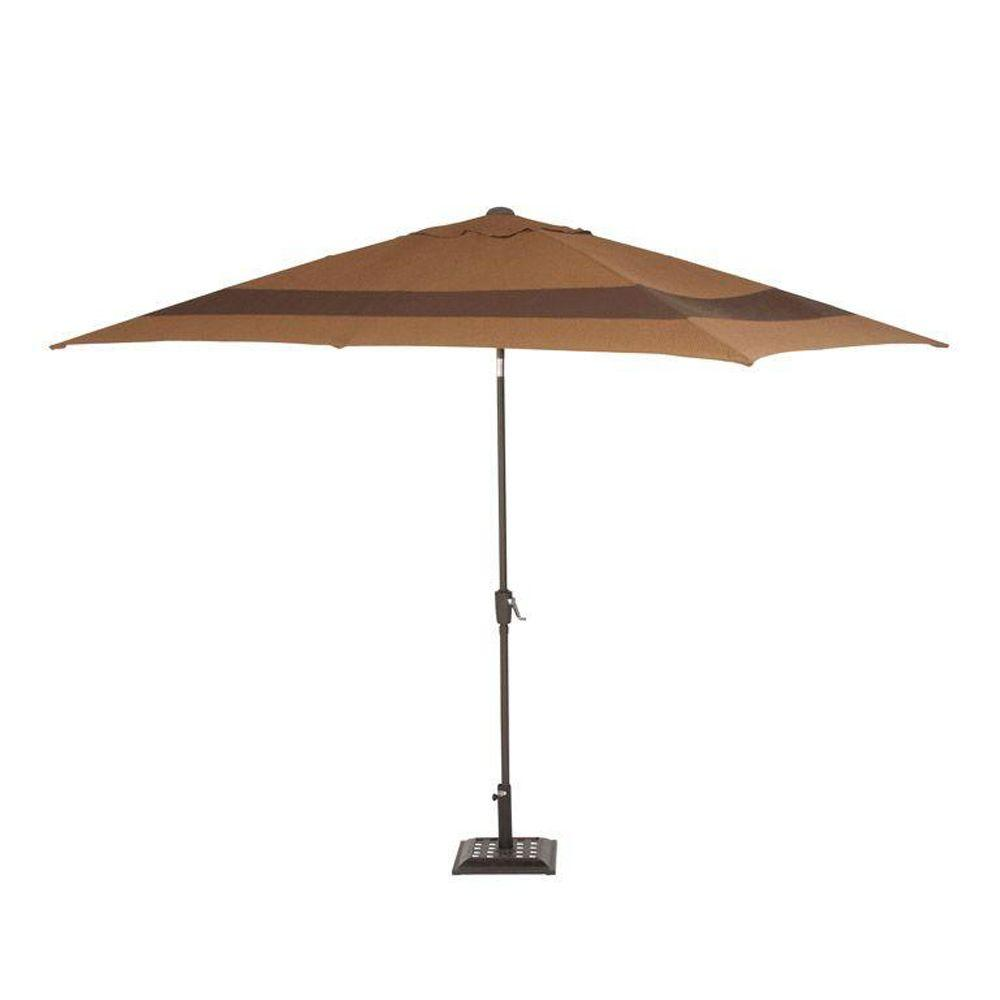 Martha Stewart Living Captiva II 12 ft. Patio Umbrella in Brown-DISCONTINUED