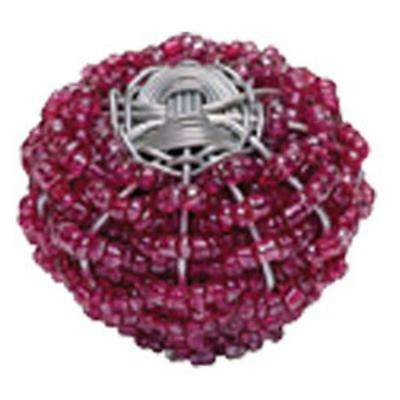 Bollywood 2 in. Rasberry & Silver Cabinet Knob