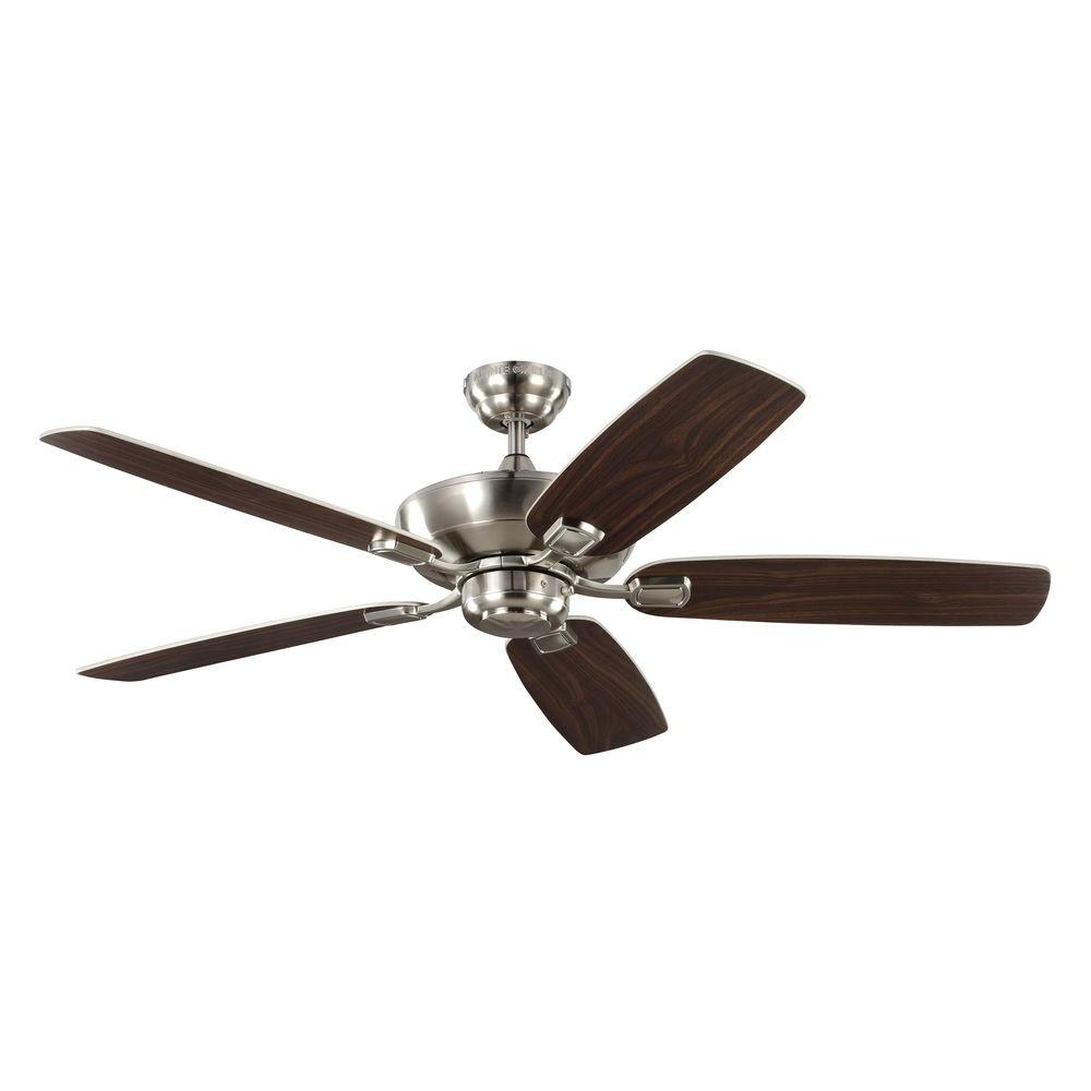 Monte Carlo Minimalist 56 In Brushed Steel Ceiling Fan