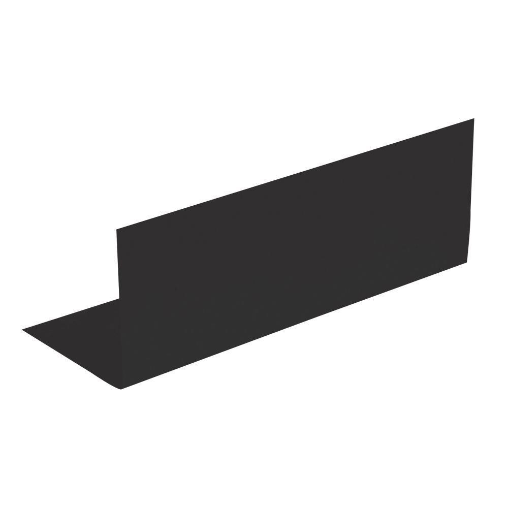 4 in. x 4 in. x 8 in. Black Galvanized Pre-bent