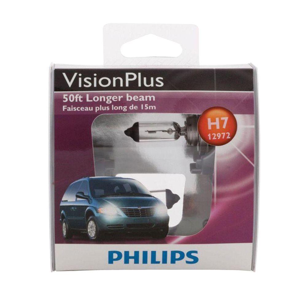 Philips VisionPlus 12972/H7 Headlight Bulb (2-Pack)