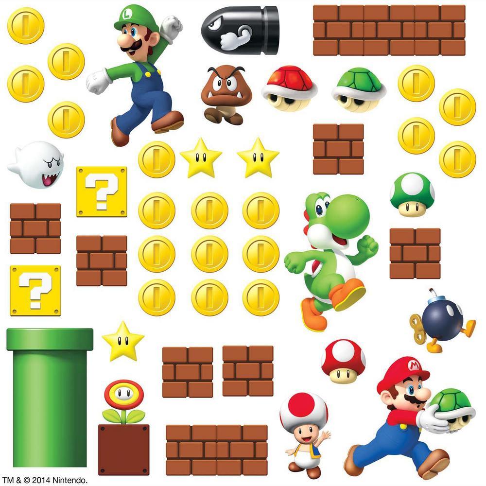RoomMates 5 in  x 11 5 in  Nintendo - Super Mario Build a