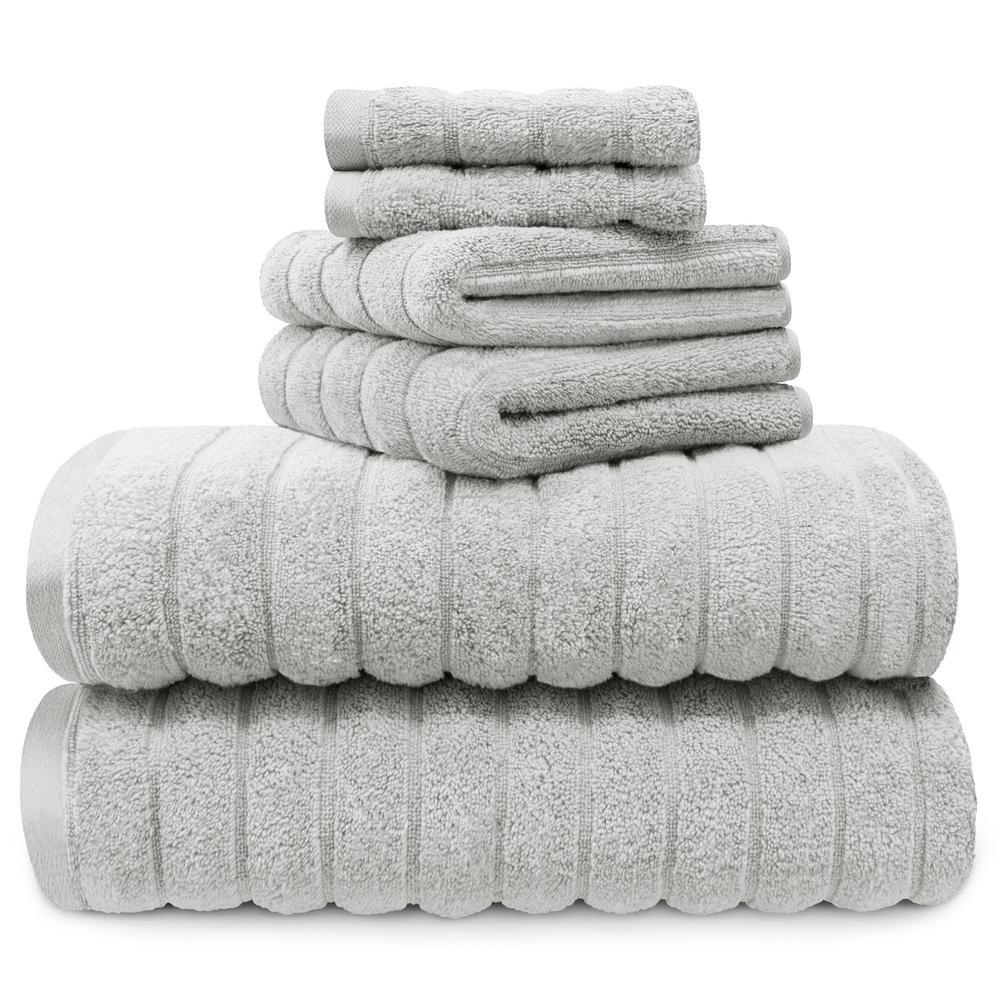 100% Cotton 6-Piece Spa Towel Set in Harbor Mist