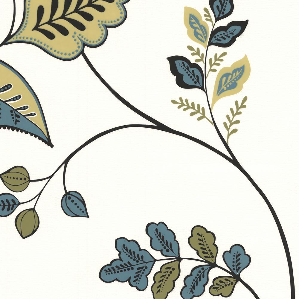 Graham & Brown Folklore Green and Teal Wallpaper Sample 20-58594