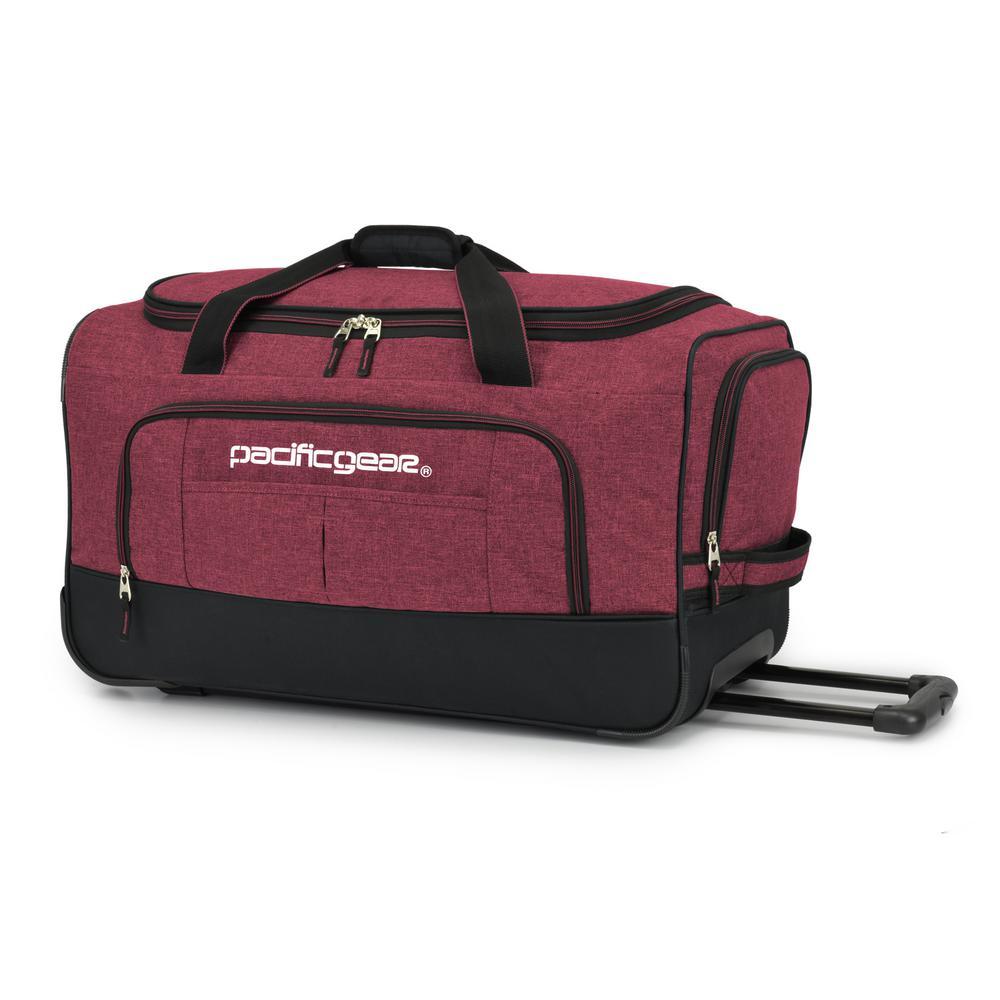 Keystone 25 in. Rolling Burgundy Duffel Bag