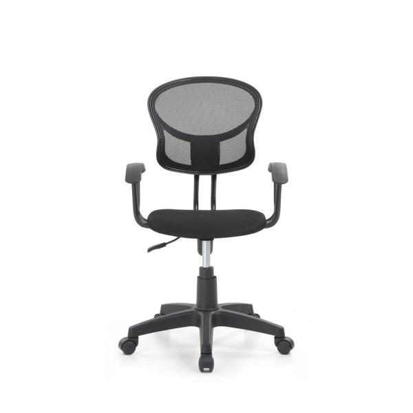 HODEDAH Black Mesh, Mid-Back, Adjustable Height, Swiveling Task Chair with Padded Seat