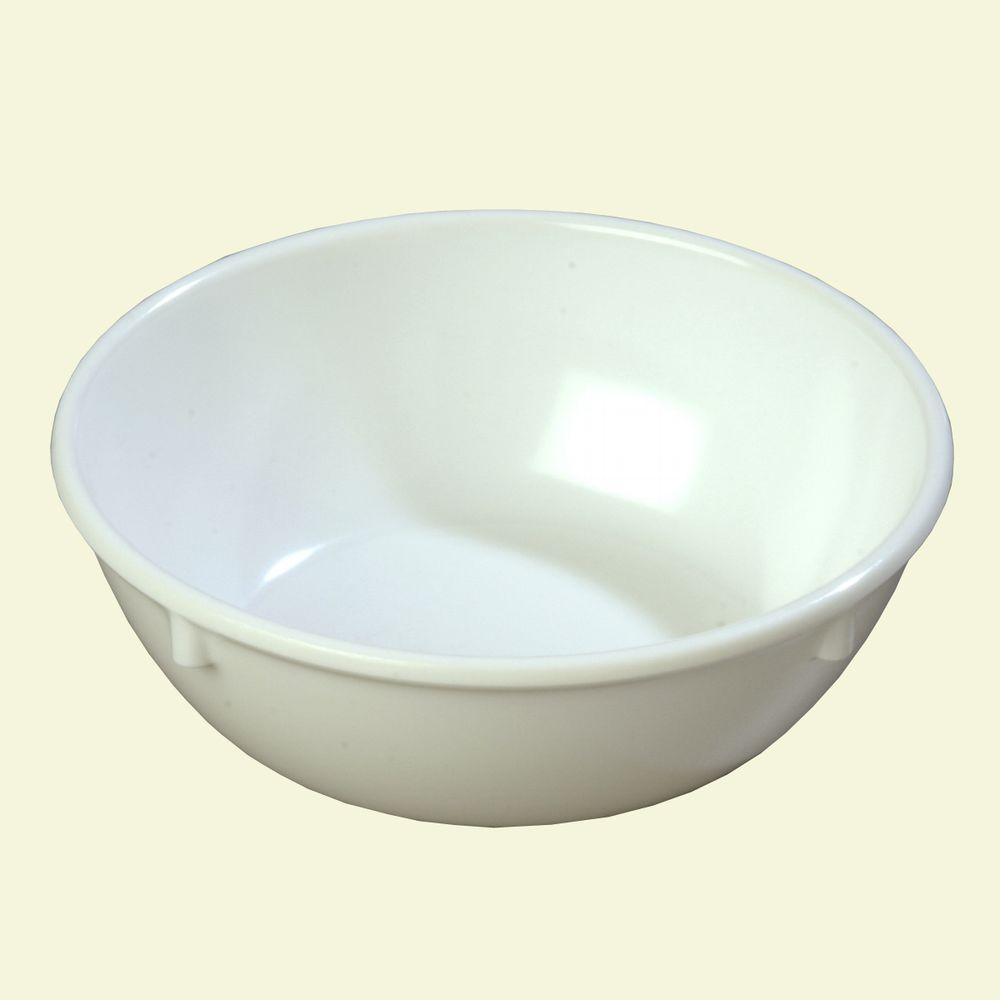 10.0 oz., 4.96 in. Diameter Melamine Nappy Bowl in White (Case