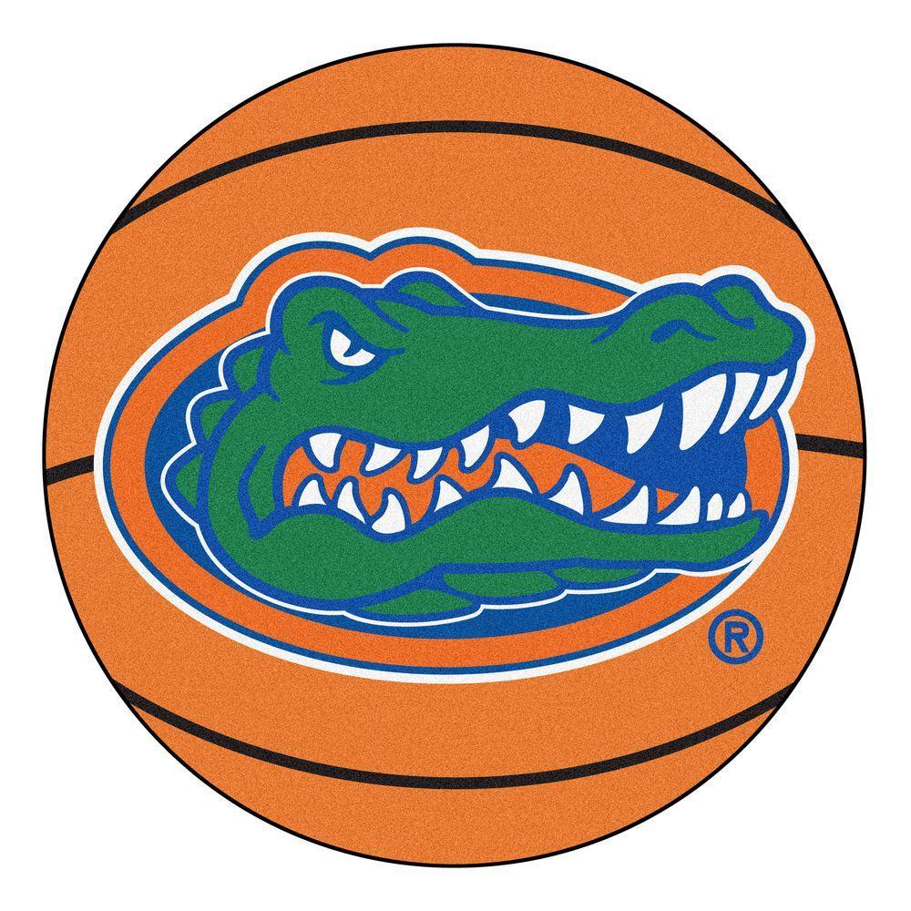 NCAA University of Florida Orange 2 ft. x 2 ft. Round Area Rug