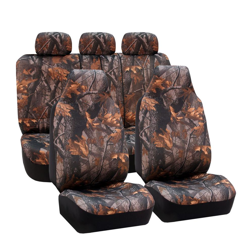 Fabric 47 in. x 23 in. x 1 in. Hunting Camo Full Set Seat...