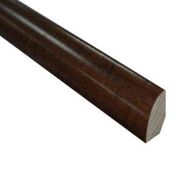 Maple Chocolate Hand Scraped 3/4 in. Thick x 3/4 in. Wide x 78 in. Length Hardwood Quarter Round Molding
