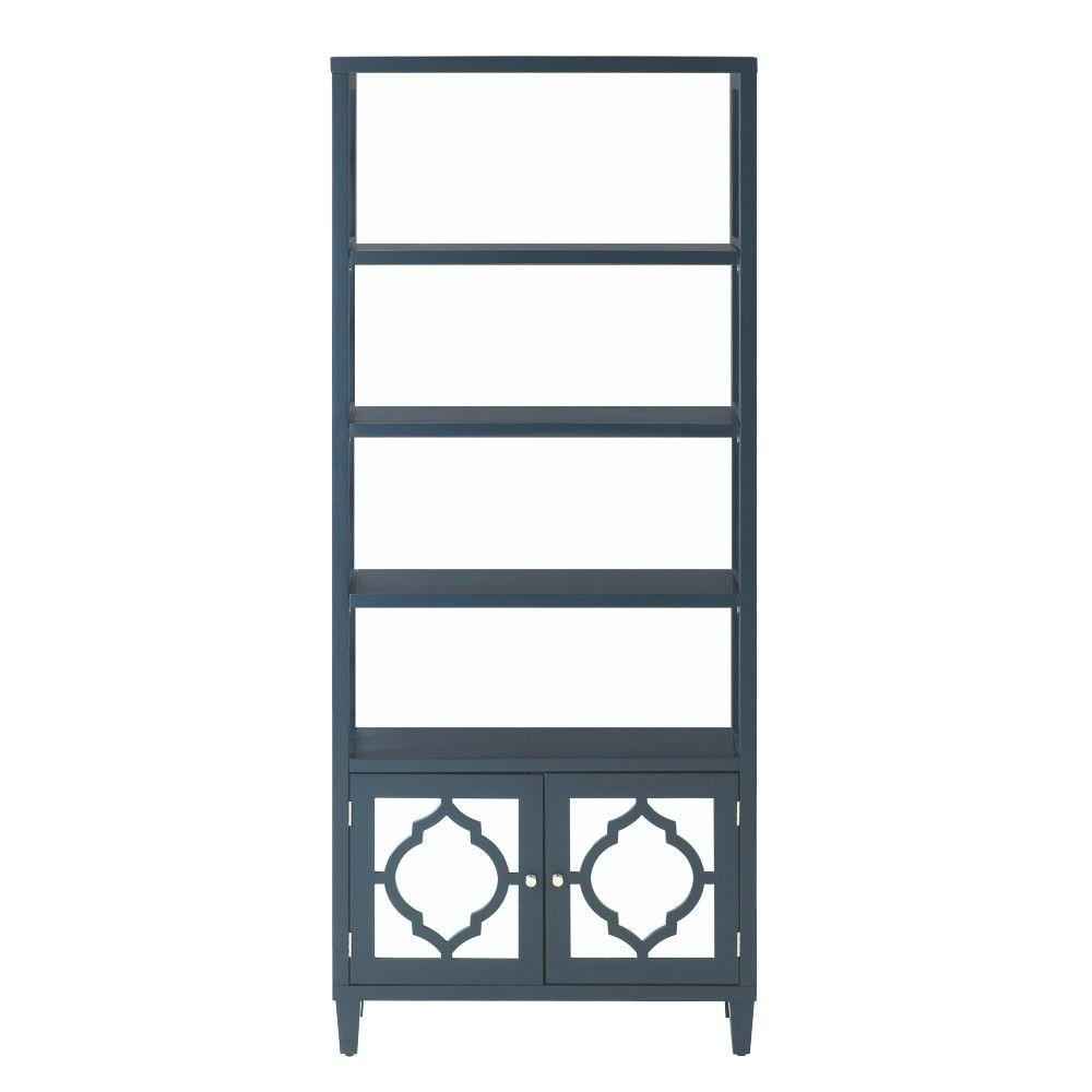 Home Decorators Collection Reflections 4-Shelf Open Bookcase in Inky Blue