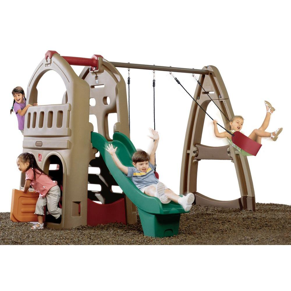 step2 climber and swing set 754300 the home depot. Black Bedroom Furniture Sets. Home Design Ideas