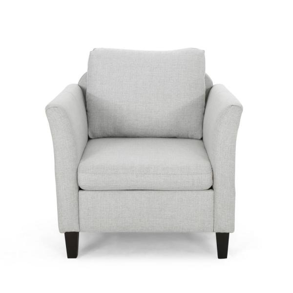 Clostermen Light Grey and Dark Brown Upholstered Club Chair