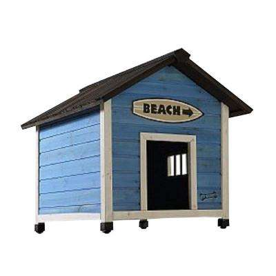 2.7 ft. L x 2.4 ft. W x 2.5 ft. H Medium Beach House Dog House
