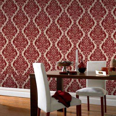 Kinky Vintage Red Removable Wallpaper