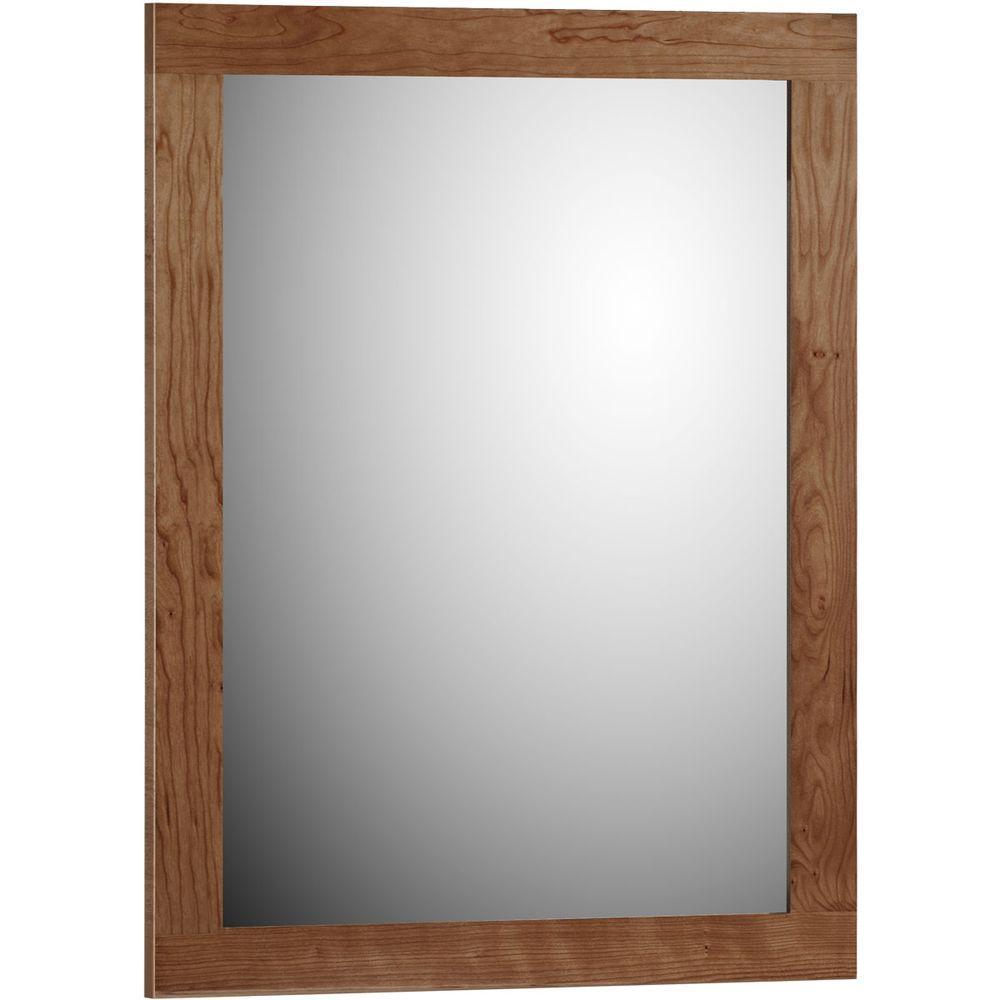 Simplicity by Strasser Shaker 24 in. W x .75 in. D x 32 in. H Framed Mirror in Medium Alder