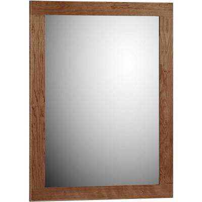 Shaker 24 in. W x .75 in. D x 32 in. H Framed Mirror in Medium Alder