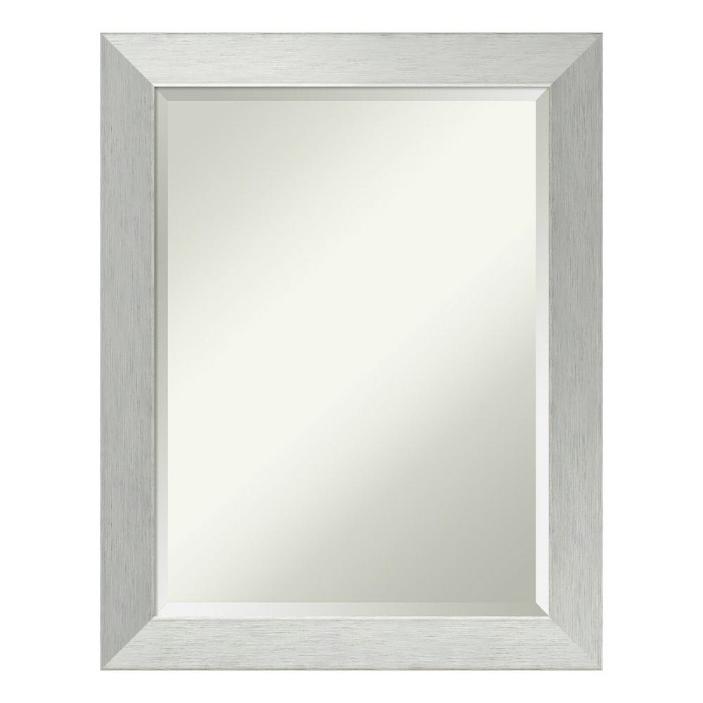 Amanti Art Brushed Sterling Silver Wood 22 in. x 28 in. Contemporary ...