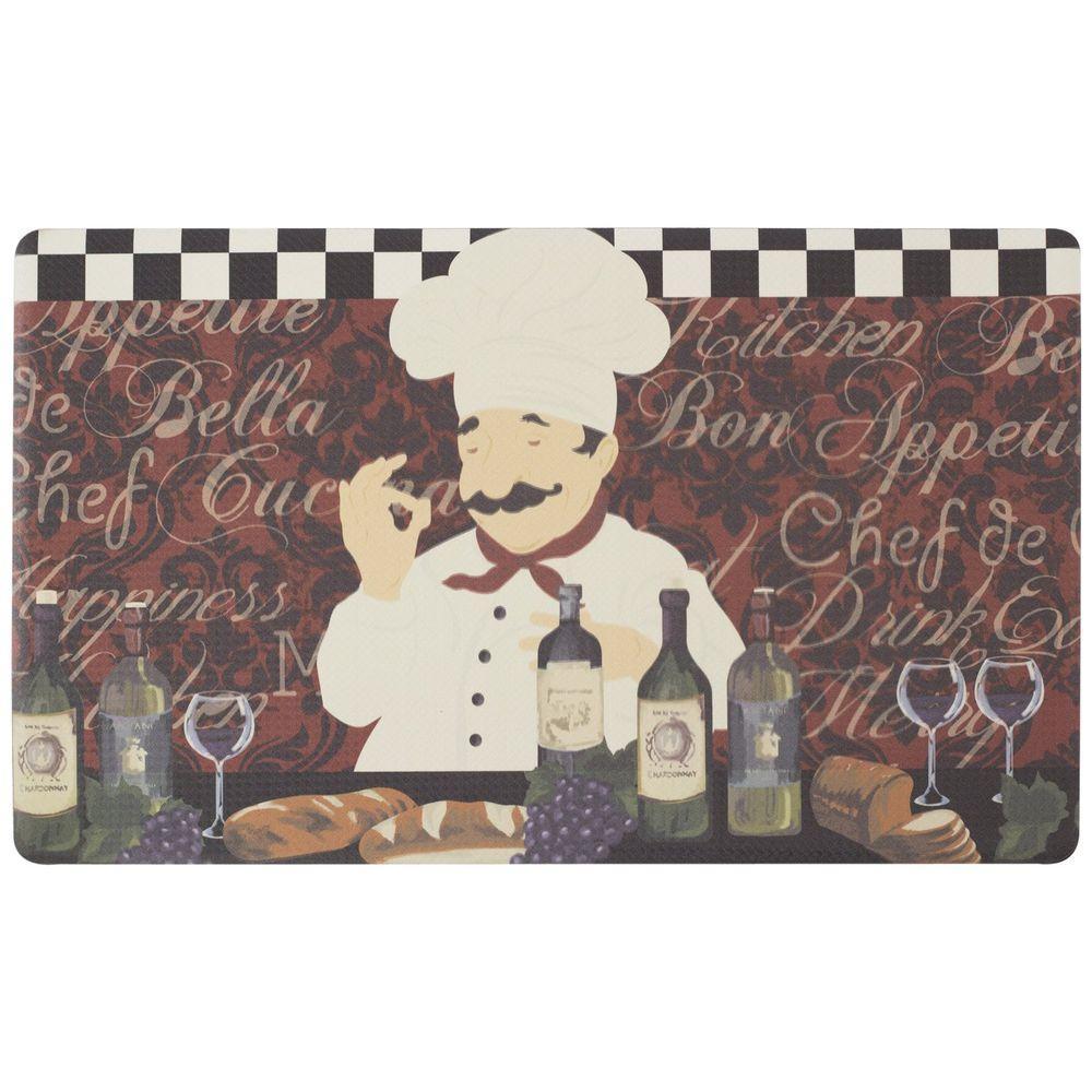 Chef Gear Chef De Cuisine 18 In X 30 In Foam Comfort Kitchen Mat
