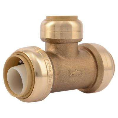 1 in. x 1 in. x 3/4 in. Brass Push-to-Connect Reducer Tee