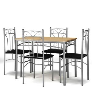 Costway 5-Piece Multi Colored Dining Set Table & 4 Chairs ...