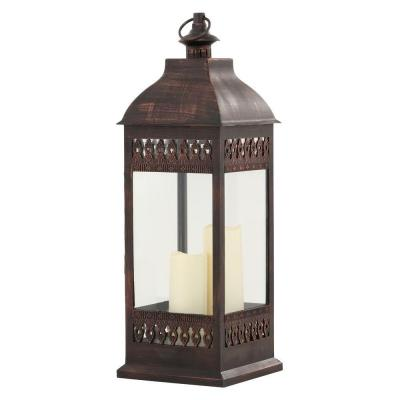 San Nicola 28-1/4 in. Bronze Integrated LED Triple Candle Lantern