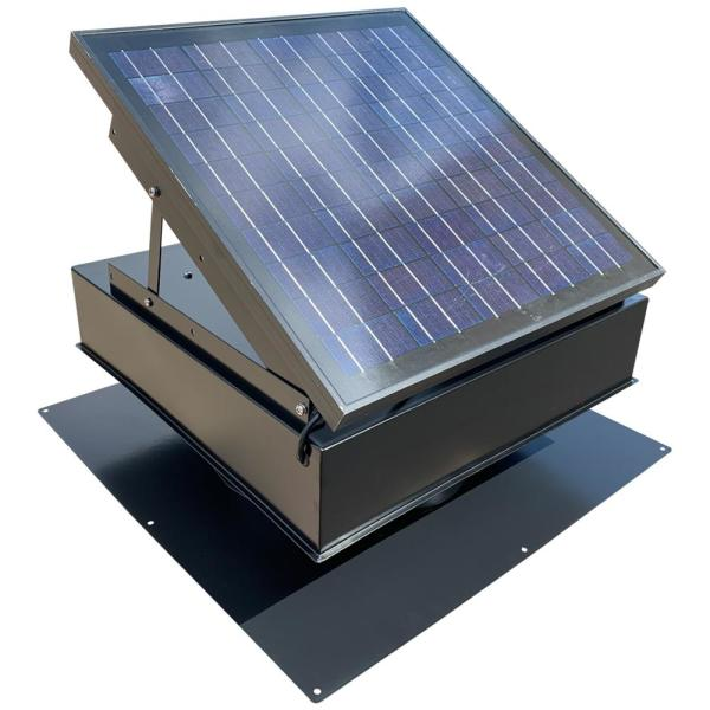 25-Watt 1450 CFM Black Solar Powered Attic Fan