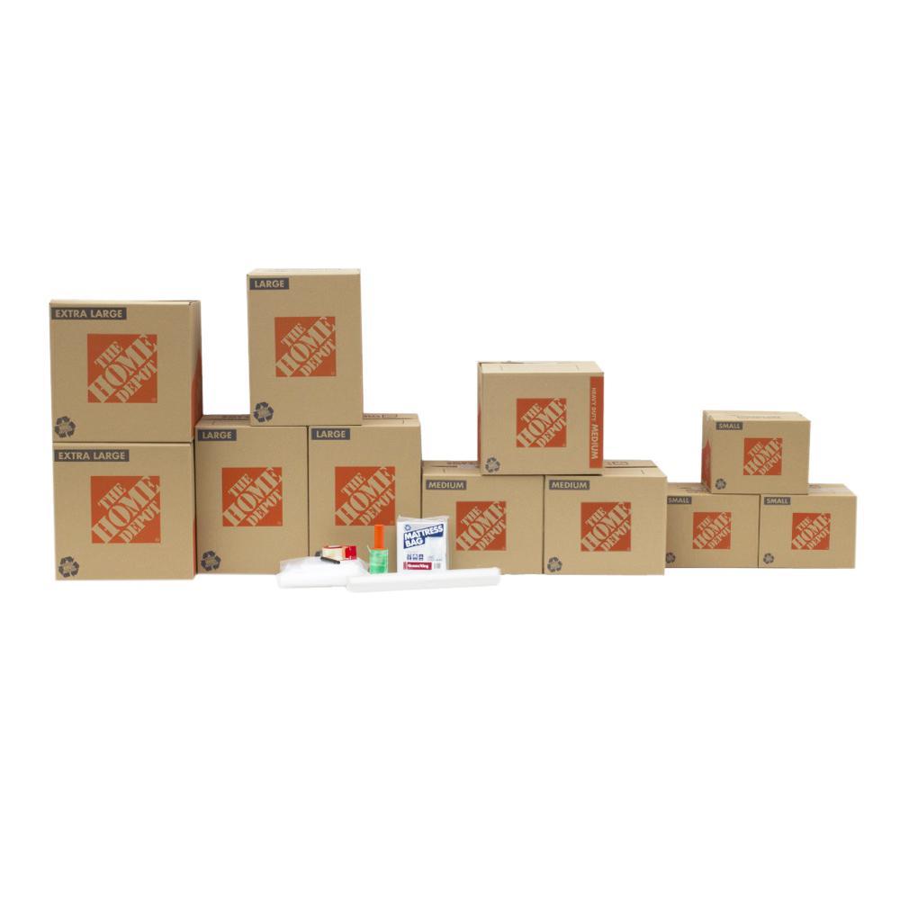 The Home Depot 11-Box Bedroom Moving Box Kit