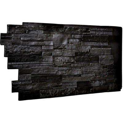 1-1/2 in. x 48 in. x 25 in. Graphite Urethane Dry Stack Stone Wall Panel