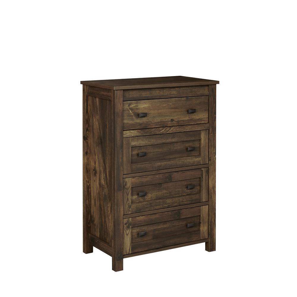 Brownwood Rustic 4-Drawer Dresser