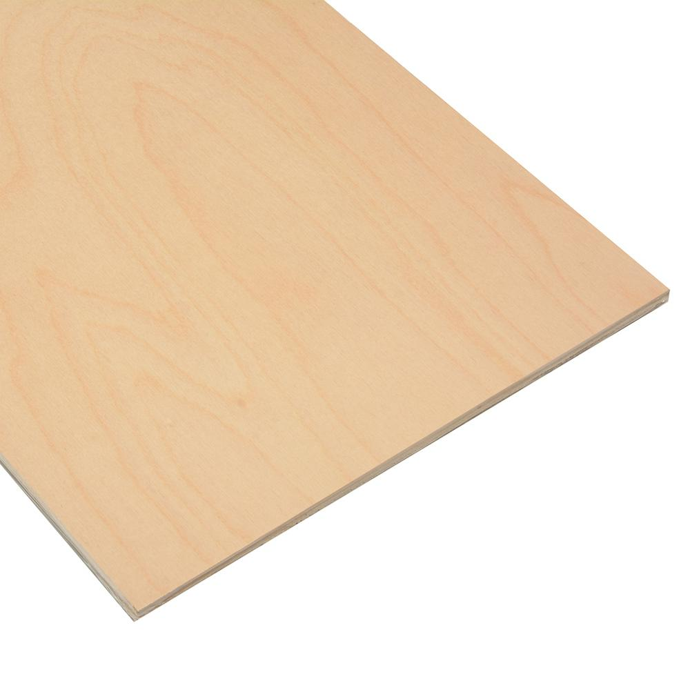 Dimensions 1/2 in. x 1 ft. x 2 ft. Birch Project Panel (4-Pack)