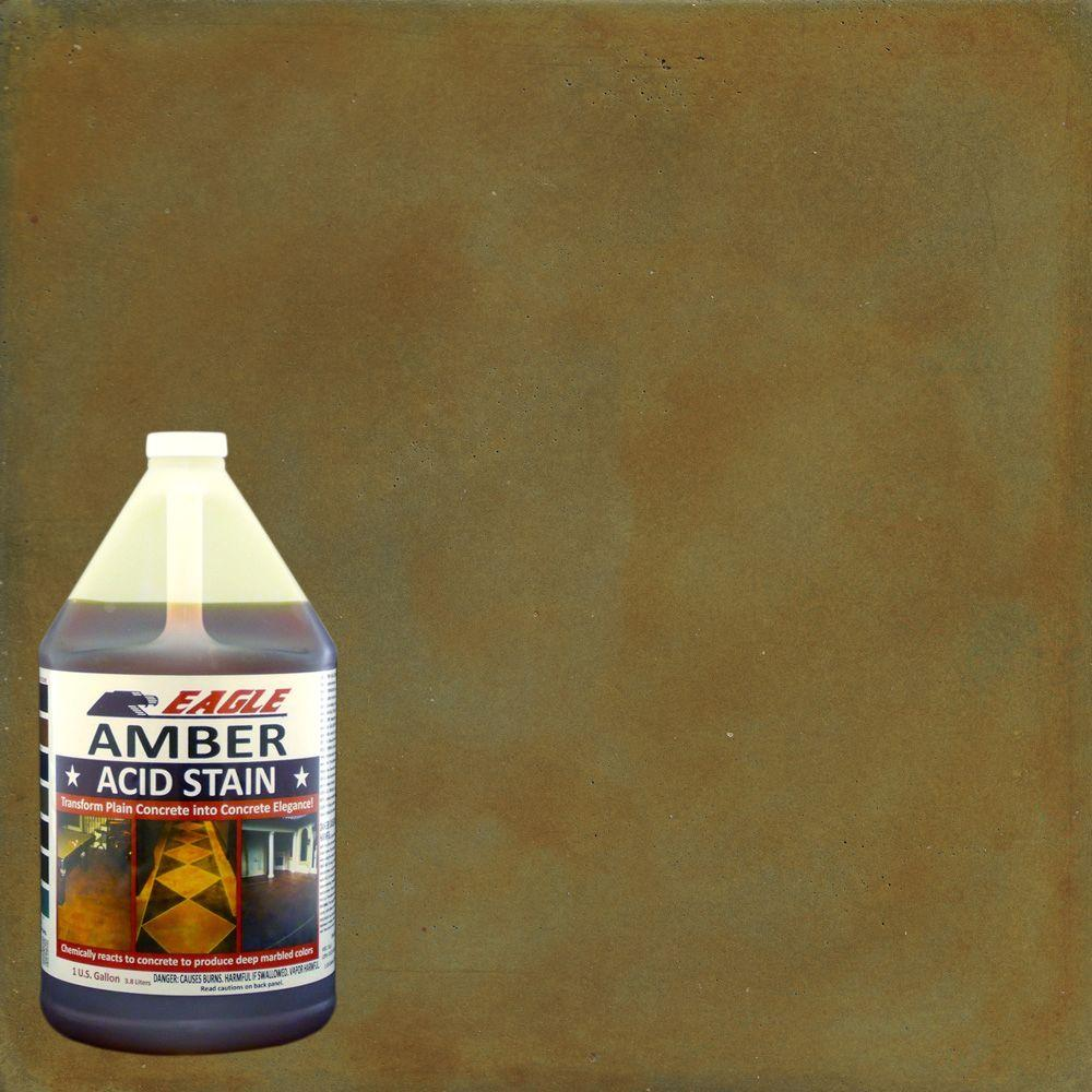 Eagle 1 Gal Amber Concrete Acid Stain Edada The Home Depot