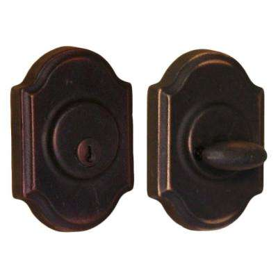 Molten Bronze Single Cylinder Oil-Rubbed Bronze Premiere Deadbolt