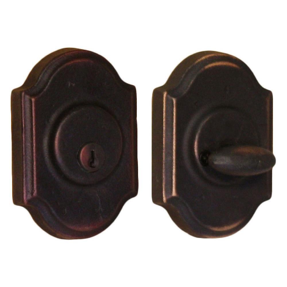 Weslock Molten Bronze Single Cylinder Oil Rubbed Bronze