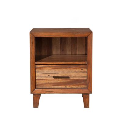 Trinidad 1-Drawer Toffee Nightstand