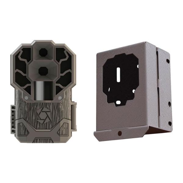 Stealth Cam Dual Sensor 30MP Trail Camera with Security Box and Cards Kit