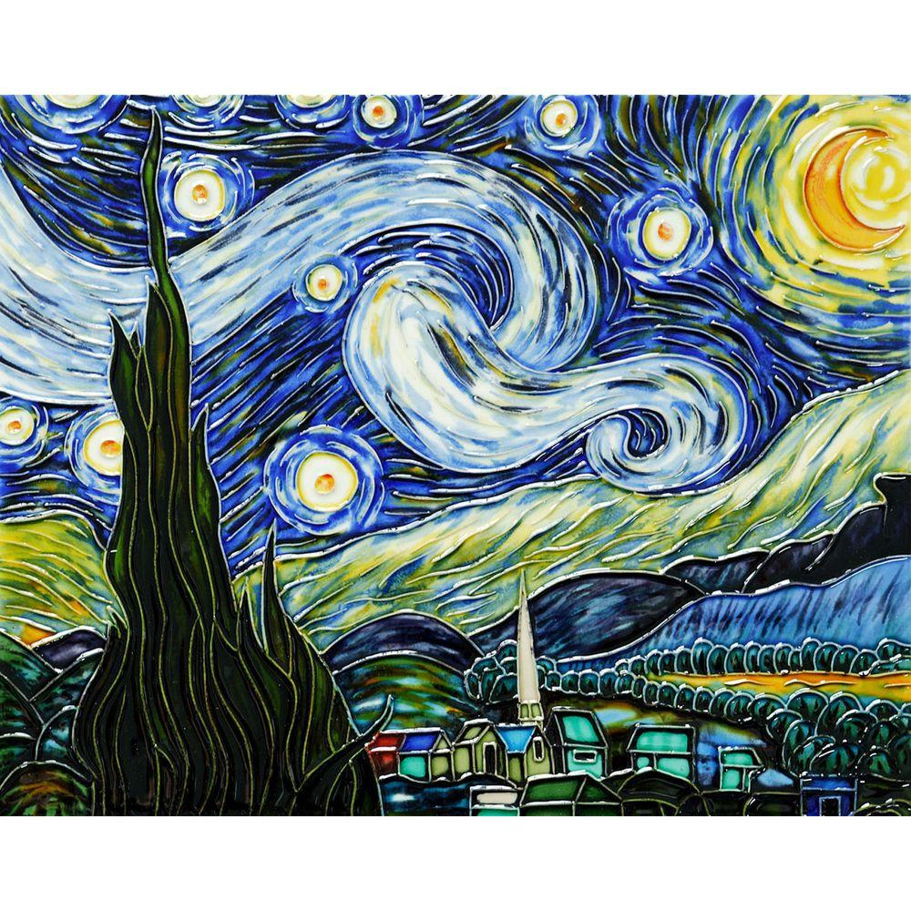 overstockArt Van Gogh, Starry Night Trivet/Wall Accent Tile (felt back)-DISCONTINUED