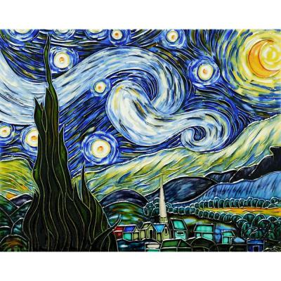 Van Gogh, Starry Night Trivet/Wall Accent Tile (felt back)