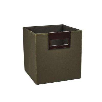 10.5 in. x 11 in. x 10.5 in. Forest Green Fabric Storage Drawer