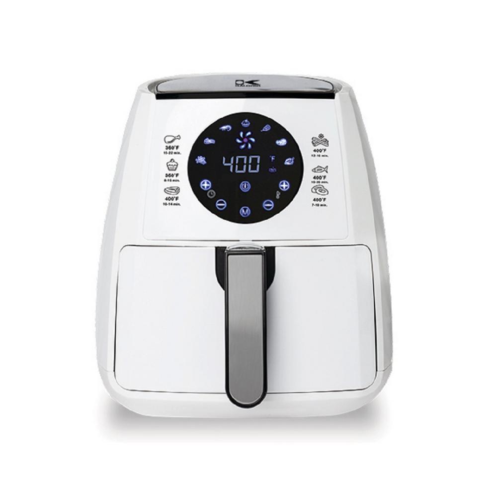 White Digital Air Fryer with Baking Pan
