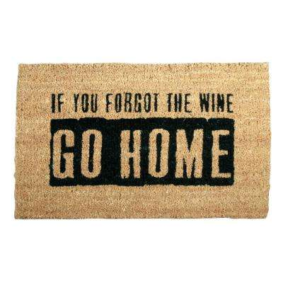 Where's the Wine 18 in. x 30 in. Coir Mat