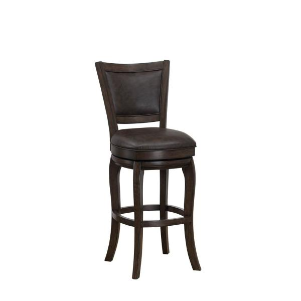 American Heritage Billiards Madison 26 in. Brown Counter Height Stool 126219