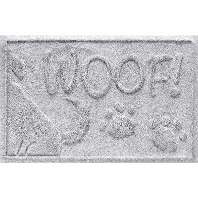 White 18 in. x 28 in. Wag the Dog Polypropylene Pet Mat