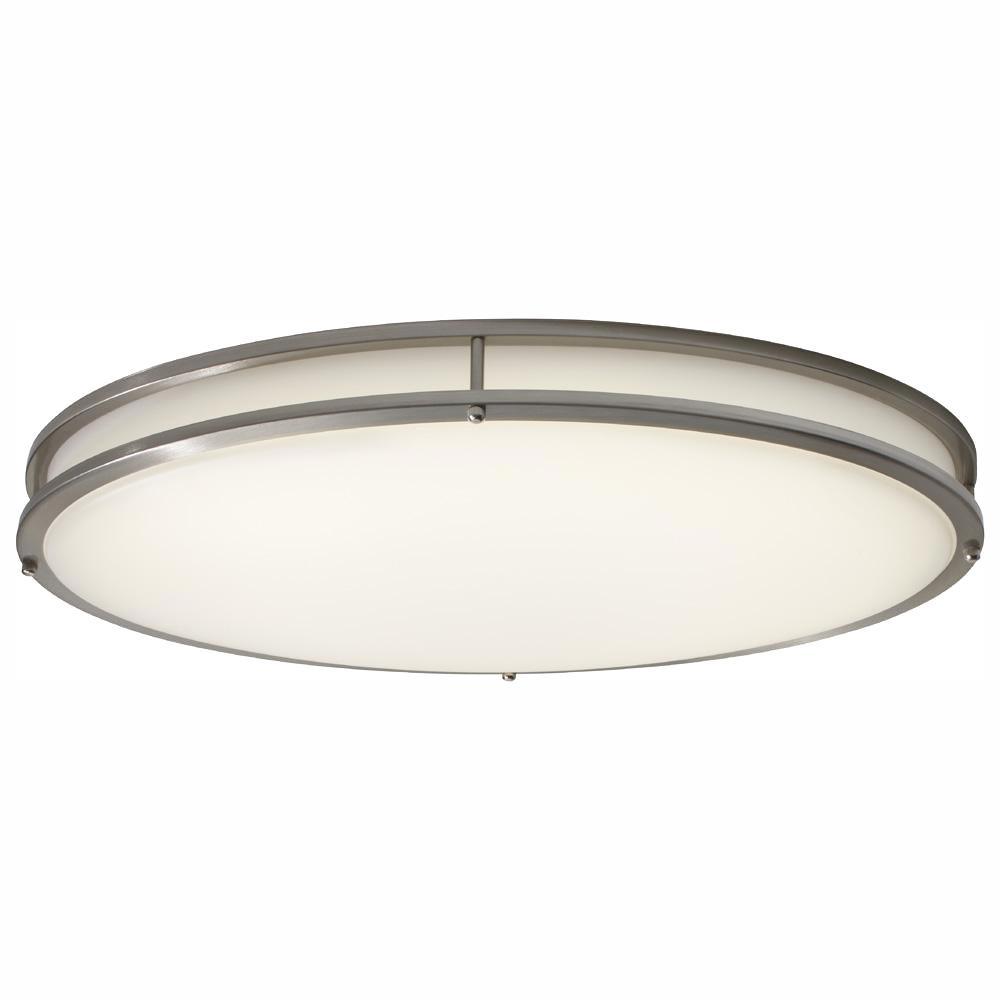 54-Watt Brushed Nickel Integrated LED Ceiling Flush Mount