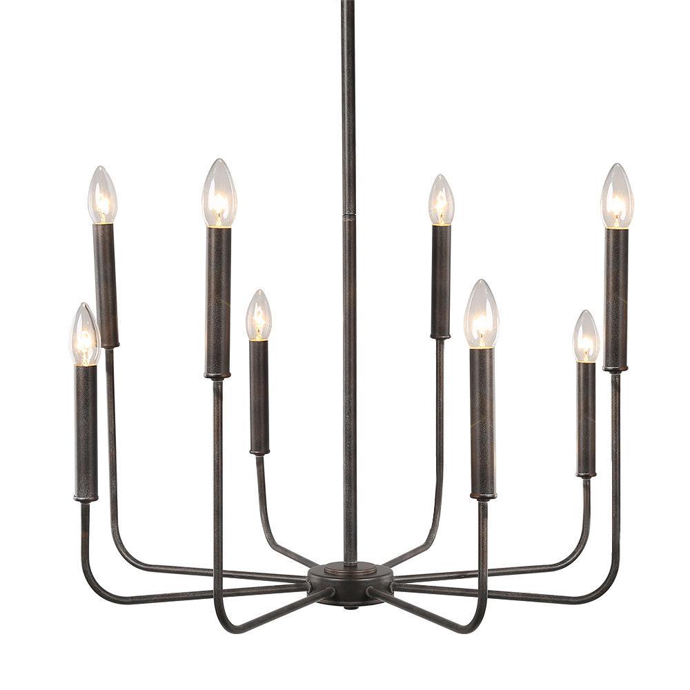 8-Light Bronze Chandelier