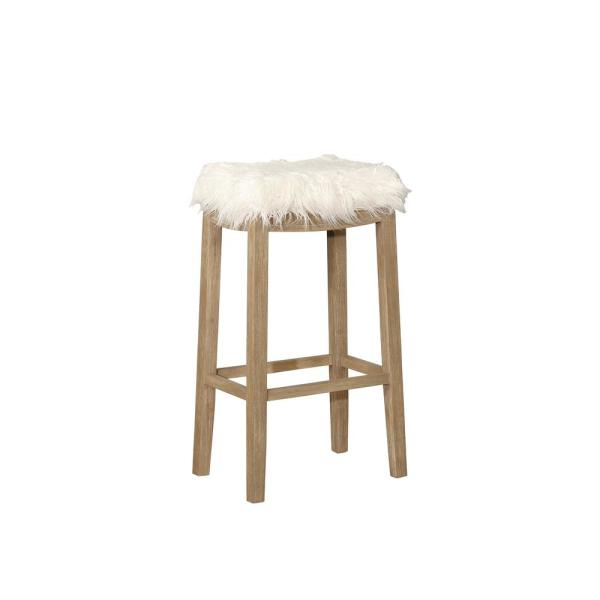 Linon Home Decor Claridge 30 in  White and Driftwood Faux