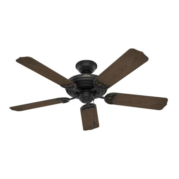 Textured Matte Black Ceiling Fan